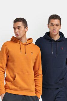 Navy/Amber 2 Pack Overhead Jersey Hoodies