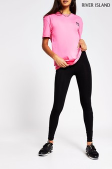 River Island High Waisted Black Valentina Leggings