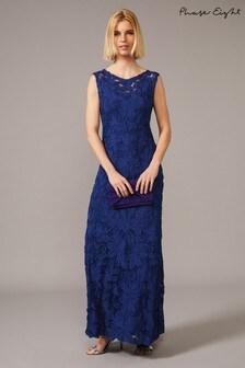 Phase Eight Blue Gia Tapework Maxi Dress