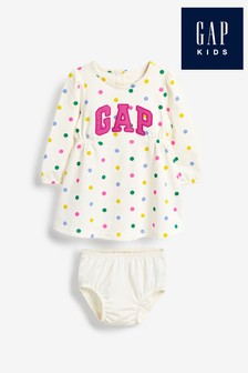 Gap Ivory Logo Dress And Briefs Set