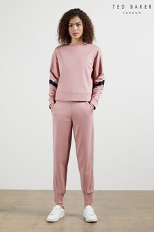 Ted Baker Aliceah Joggers With Striped Trim