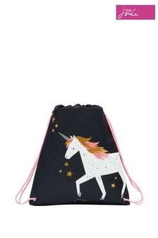 Joules Blue Active Unicorn Drawstring Bag