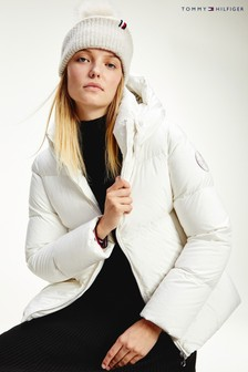 Tommy Hilfiger White Down Padded Jacket