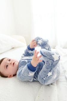 Blue Star Fleece Sleepsuit (0mths-3yrs)