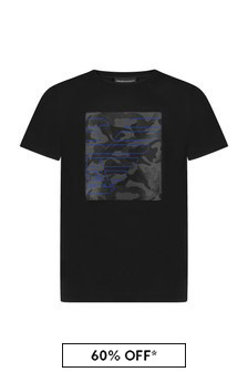 Emporio Armani Boys Black T-Shirt