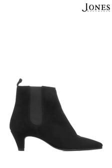 Jones Bootmaker Black Heeled Leather Ladies Chelsea Boots