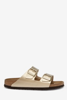 Birkenstock® Gold Metallic Arizona Sandals