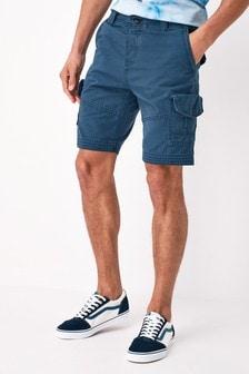 Vintage Blue Regular Length Premium Laundered Cargo Shorts