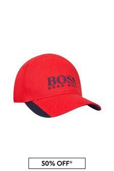 Boss Kidswear BOSS Baby Boys Red Cotton Hat