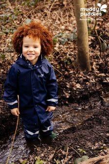 Muddy Puddles Blue Rainy Day Waterproof Jacket