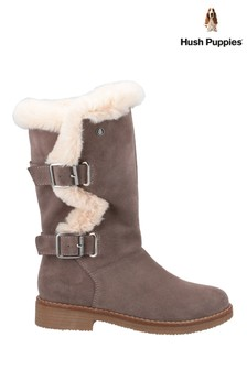 Hush Puppies Grey Megan Ladies Mid Boots