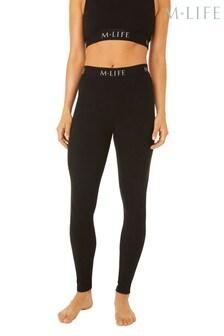 M.Life Yoga Branded High Waisted Cotton Leggings