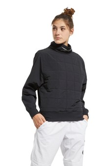 Reebok Workout Ready Quilted Crew Sweater