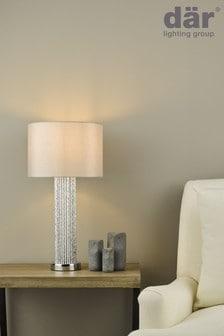 Dar Lighting Silver Lazio Table Lamp