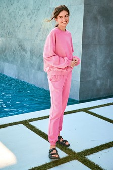 Pink Lounge Joggers And Jumper Set