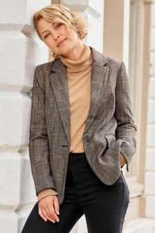Brown Check Emma Willis Blazer