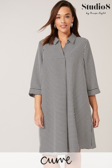 Studio 8 Black Joanne Dogtooth Swing Dress