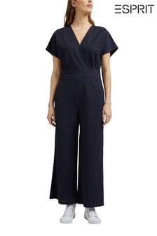 Esprit Blue Overal Knit Jumpsuit