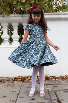 Trotters London Navy Mitsi Liberty Print Party Dress