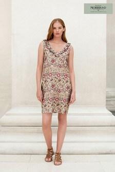 Morris & Co. at Next Print Linen Mix Ruffle Dress