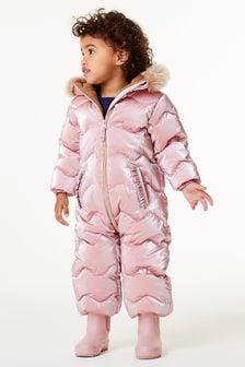 Pink Shower Resistant Metallic Snowsuit (3mths-7yrs)
