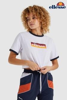 Ellesse™ White Filide Crop T-Shirt