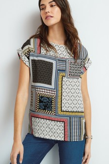 Multi Patch Print Boxy T-Shirt