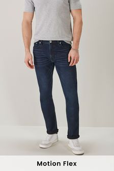 Deep Indigo Skinny Fit Motion Flex Stretch Jeans