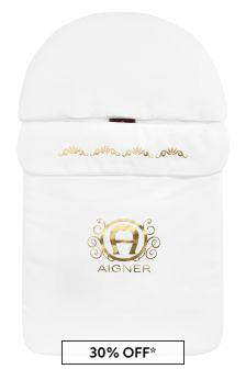 Aigner Baby White Cotton Sleep Bag