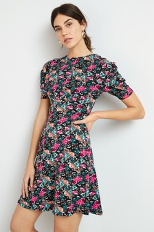 Multi Print Tea Dress