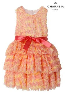 Charabia Multicoloured Ruffle Bow Dress