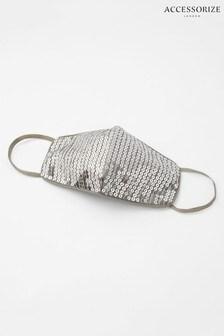 Accessorize Silver Sequin Sparkle Face Covering