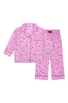 Girls Pink Organic Cotton Star Pyjamas