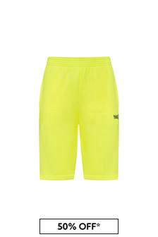 Kids Yellow Cotton Shorts