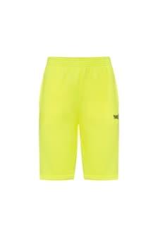Balenciaga Kids Yellow Cotton Shorts