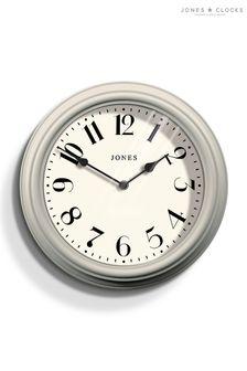 Jones Clocks Venetian Powder Grey Wall Clock