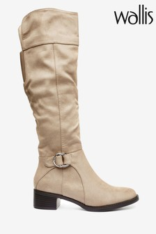 Wallis Hamlet Neutral D Ring High Leg Boots
