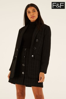 F&F Black Bouclé Jacket