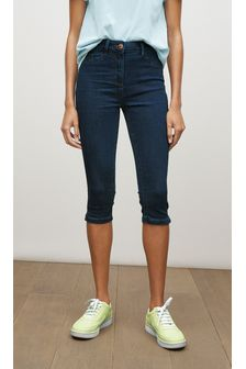 Dark Blue Cropped Pedal Pushers