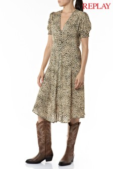 Replay Floral Print Dress