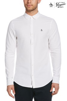 Original Penguin White Slim Fit Cotton Oxford Shirt