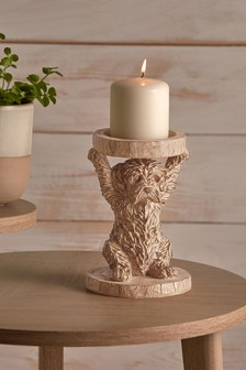 Charlie Cockapoo Candle Holder