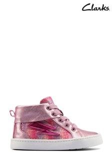 Clarks Light Pink Combi City Myth T Boots