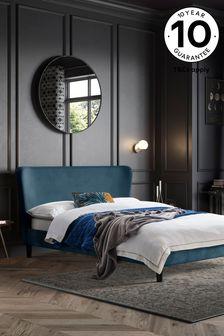 Opulent Velvet Airforce Blue Wilson Bed