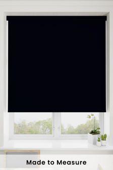 Haig Jet Black Made To Measure Blackout Roller Blind