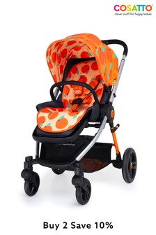 Cosatto Wowee Chassis and Seat Unit So Orangey