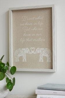 Elephant Framed Print