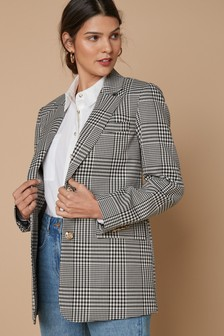 Black/White Check Blazer