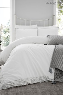 Caprice Hepburn Luxury Embellished Duvet Cover and Pillowcase Set