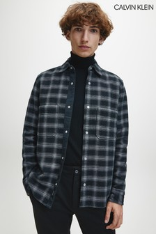 Calvin Klein Grey Workwear Check Overshirt